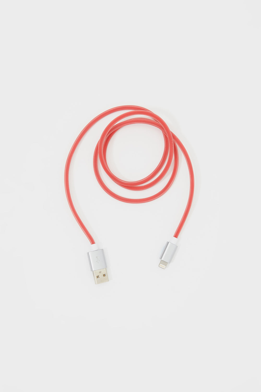 Silicone iPhone Lightning USB Cable Red