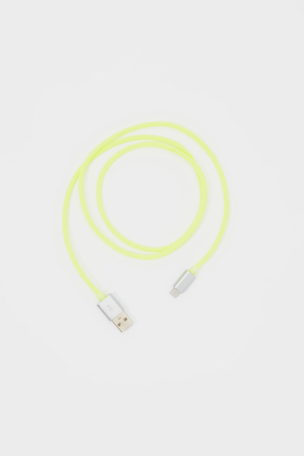 Neon Fabric Micro USB Cable Neon Yellow