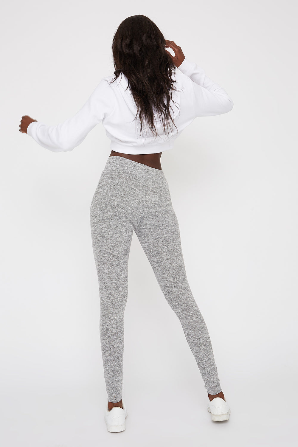 Drawstring Soft Legging Heather Grey