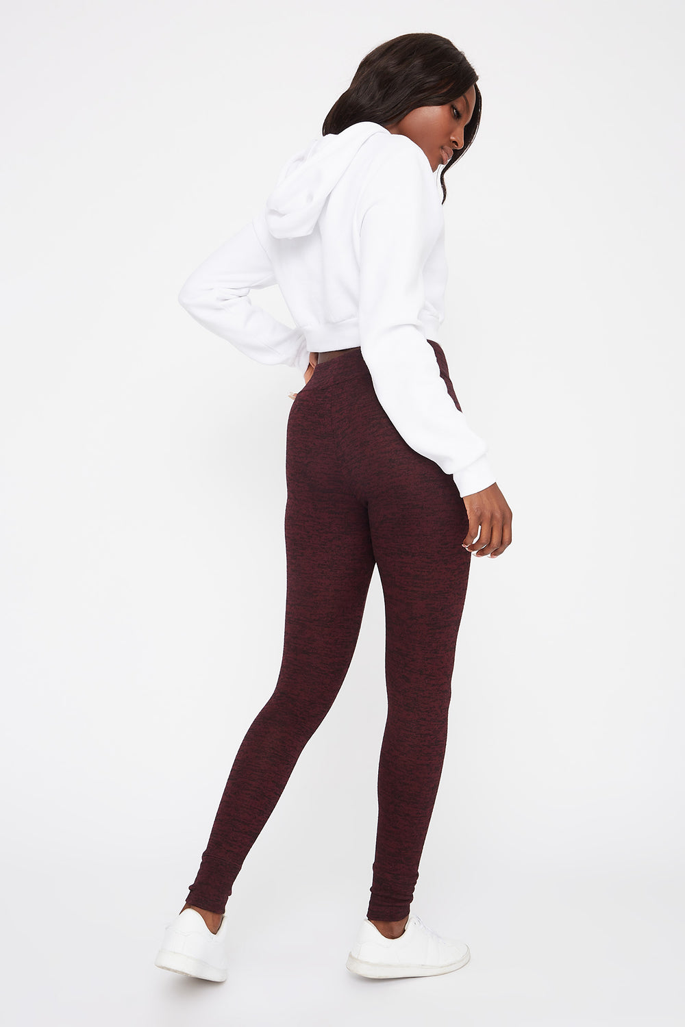 Drawstring Soft Legging Burgundy