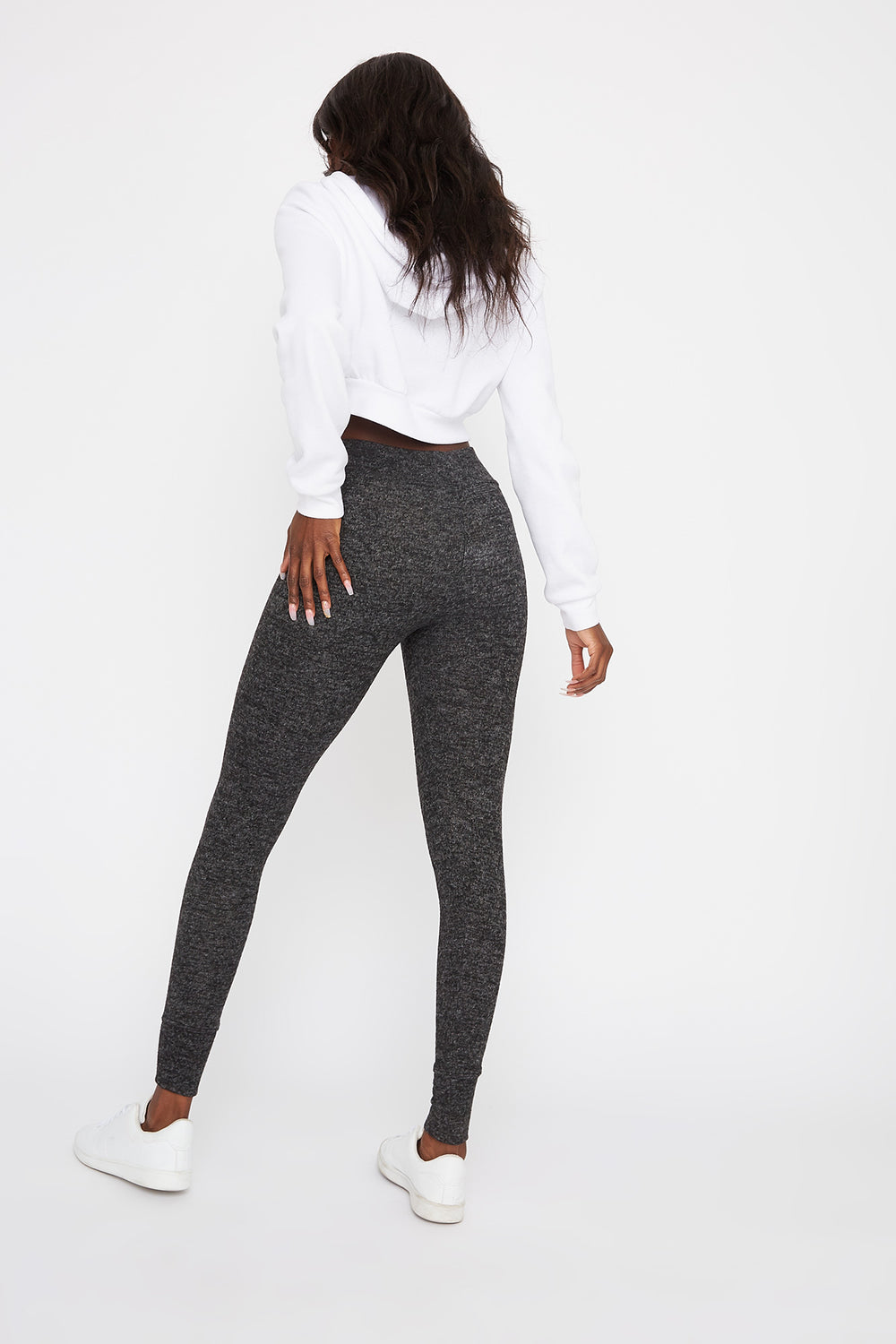 Drawstring Soft Legging Charcoal