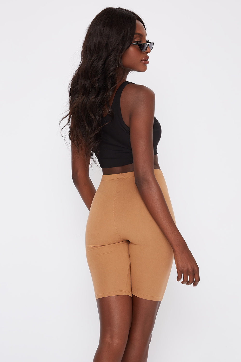 Soft Biker Short Tan
