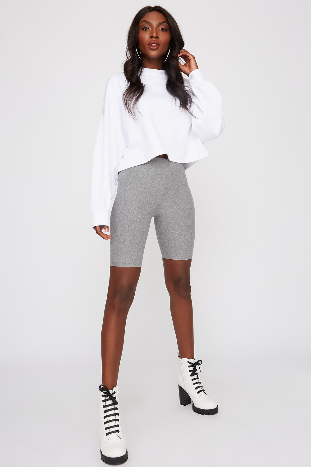 Soft Biker Short Heather Grey