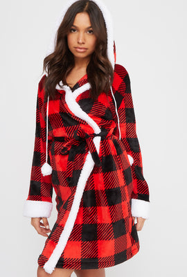 Plaid Sequin Let's Cuddle Plush Robe