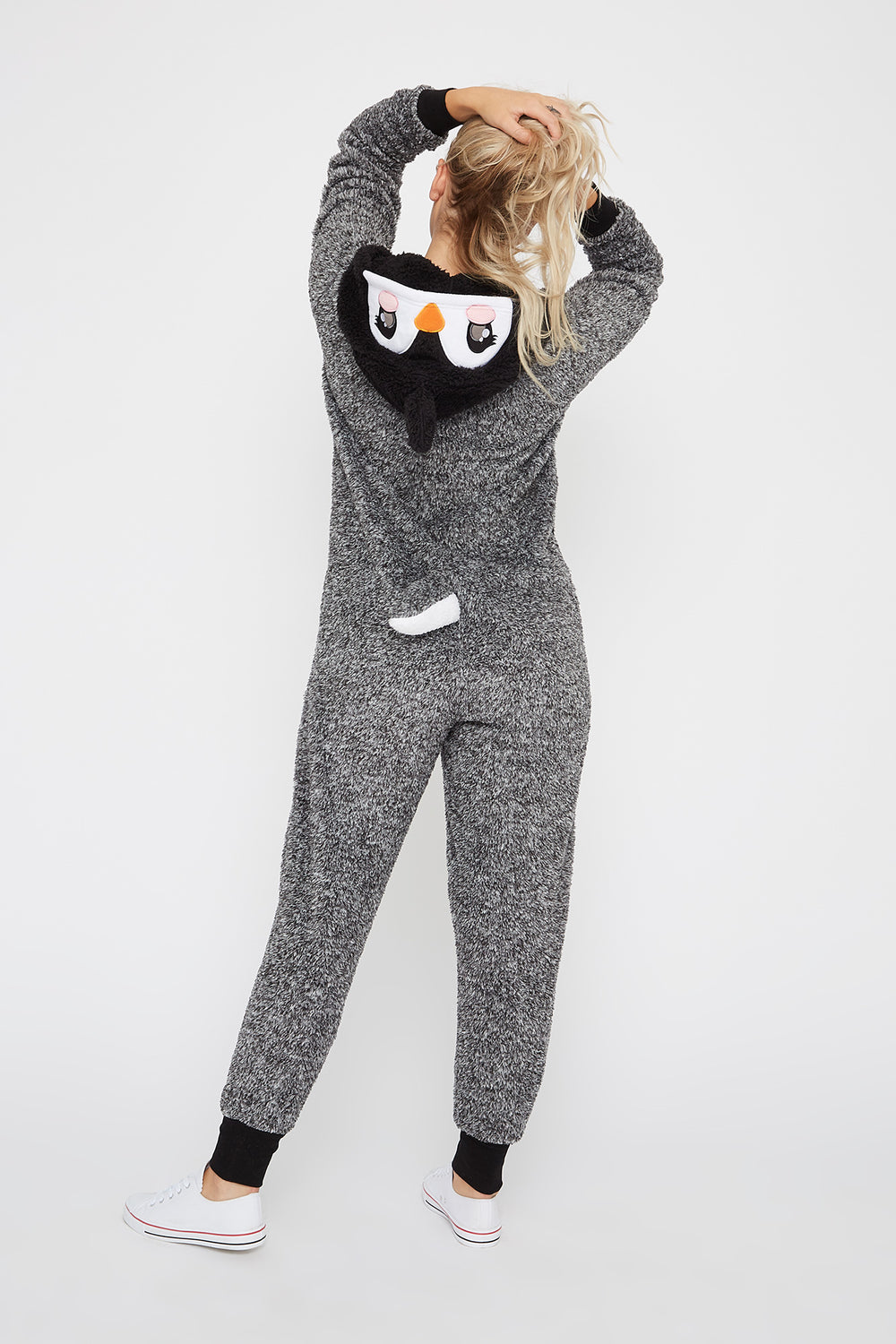 Penguin Onesie Heather Grey