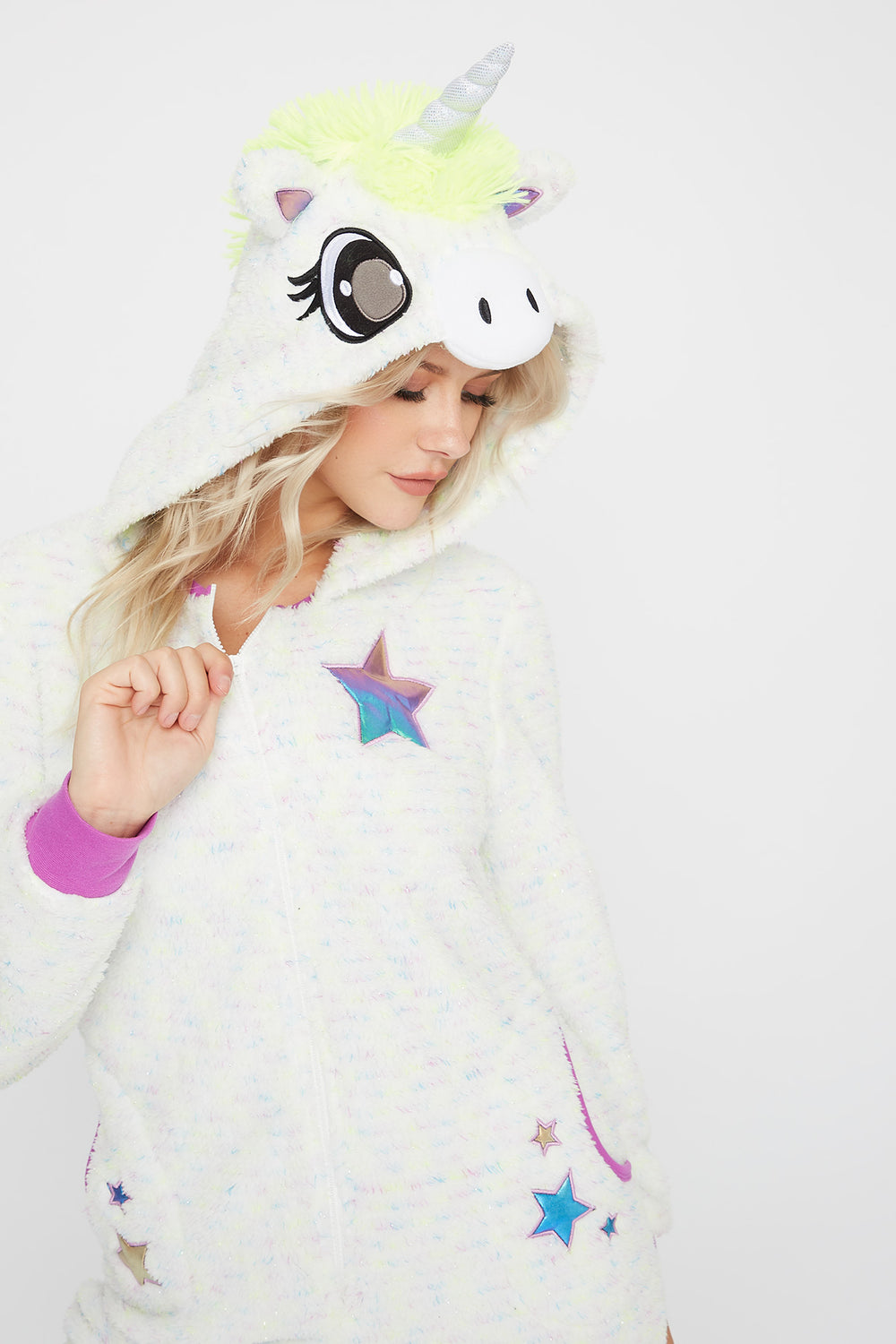 Unicorn Glitter Light Up Onesie Multi