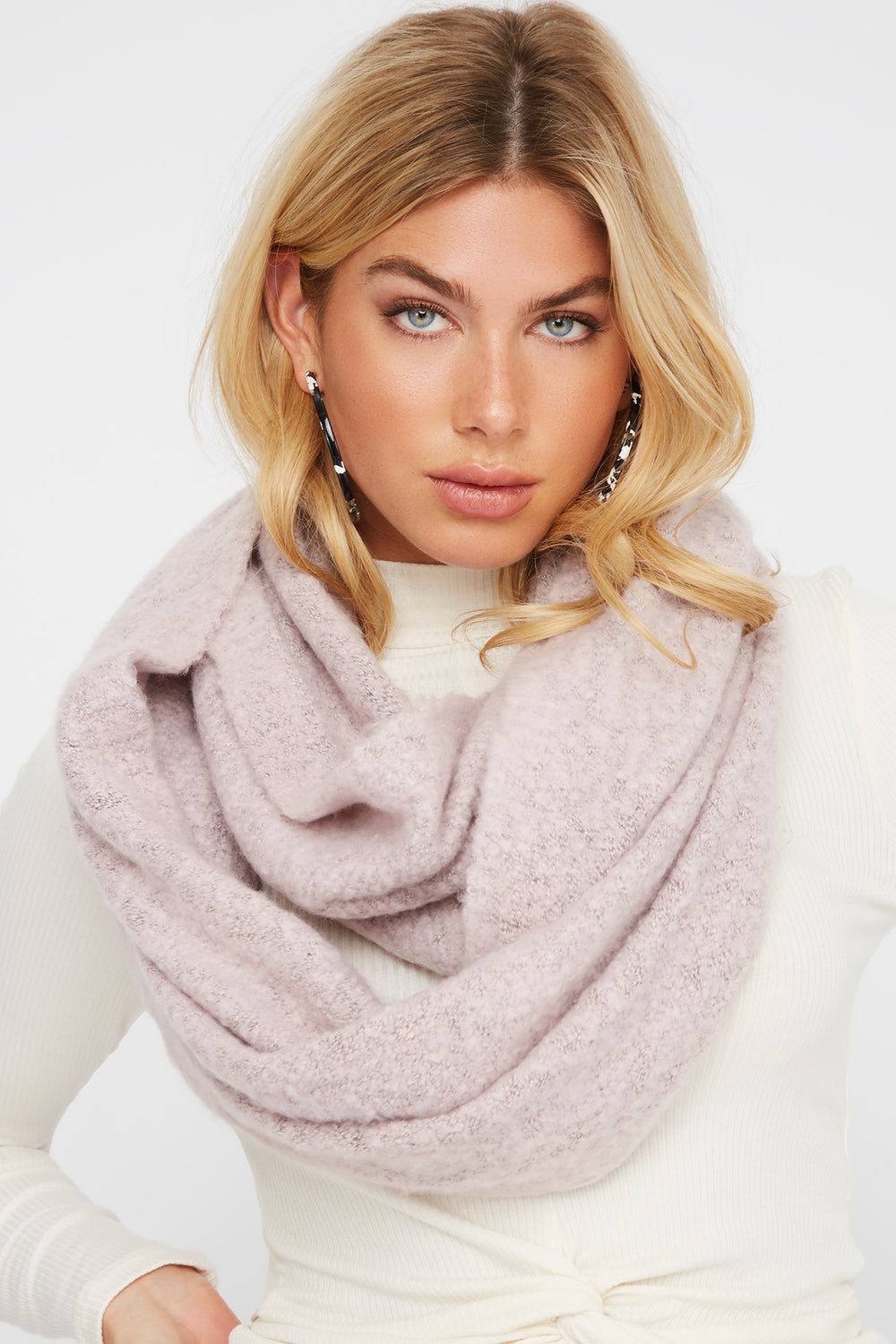 Soft Brushed Infinity Scarf Rose