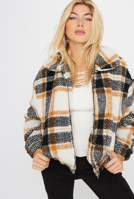 Plaid Sherpa Jacket