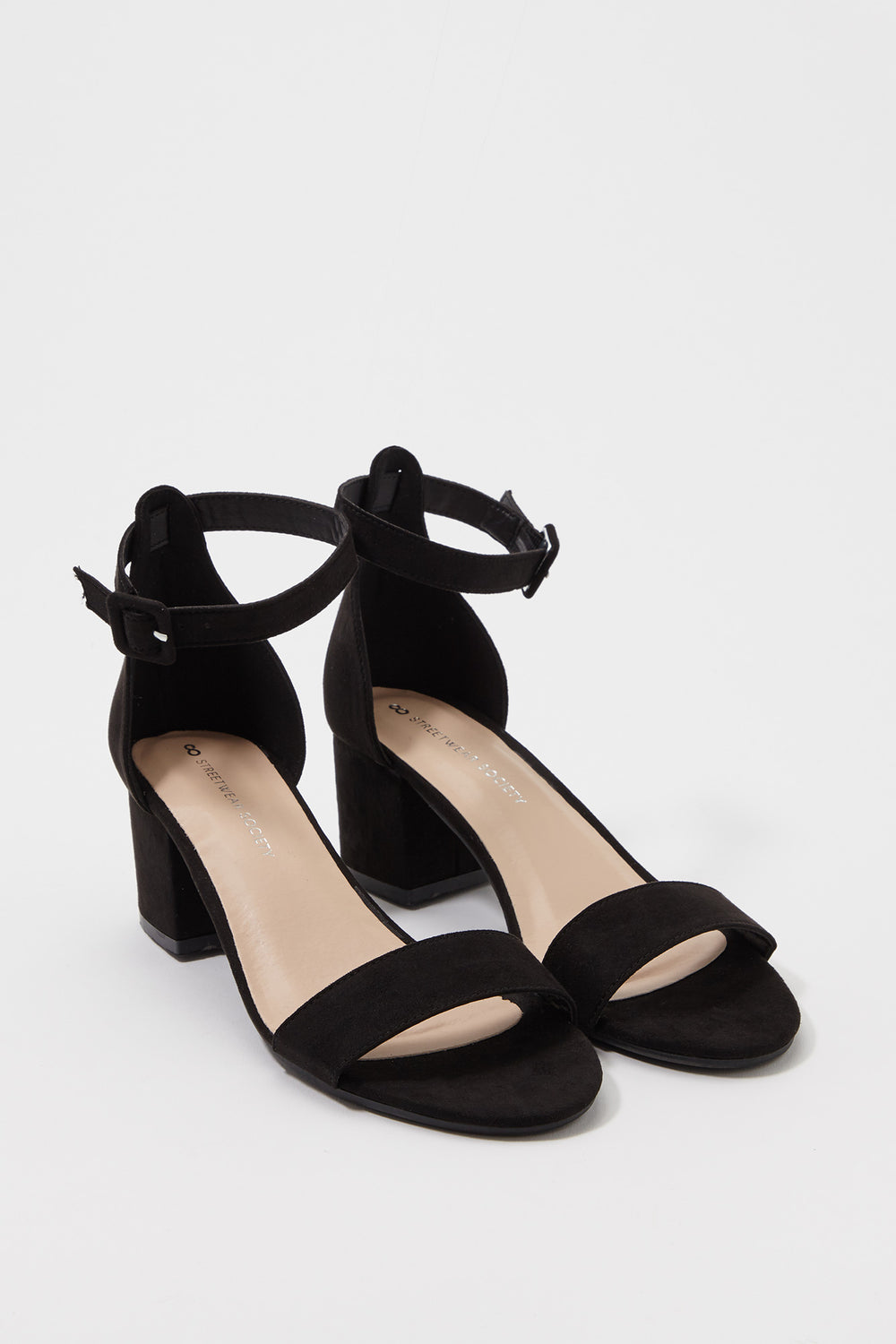 Low Block Heel Sandal Black