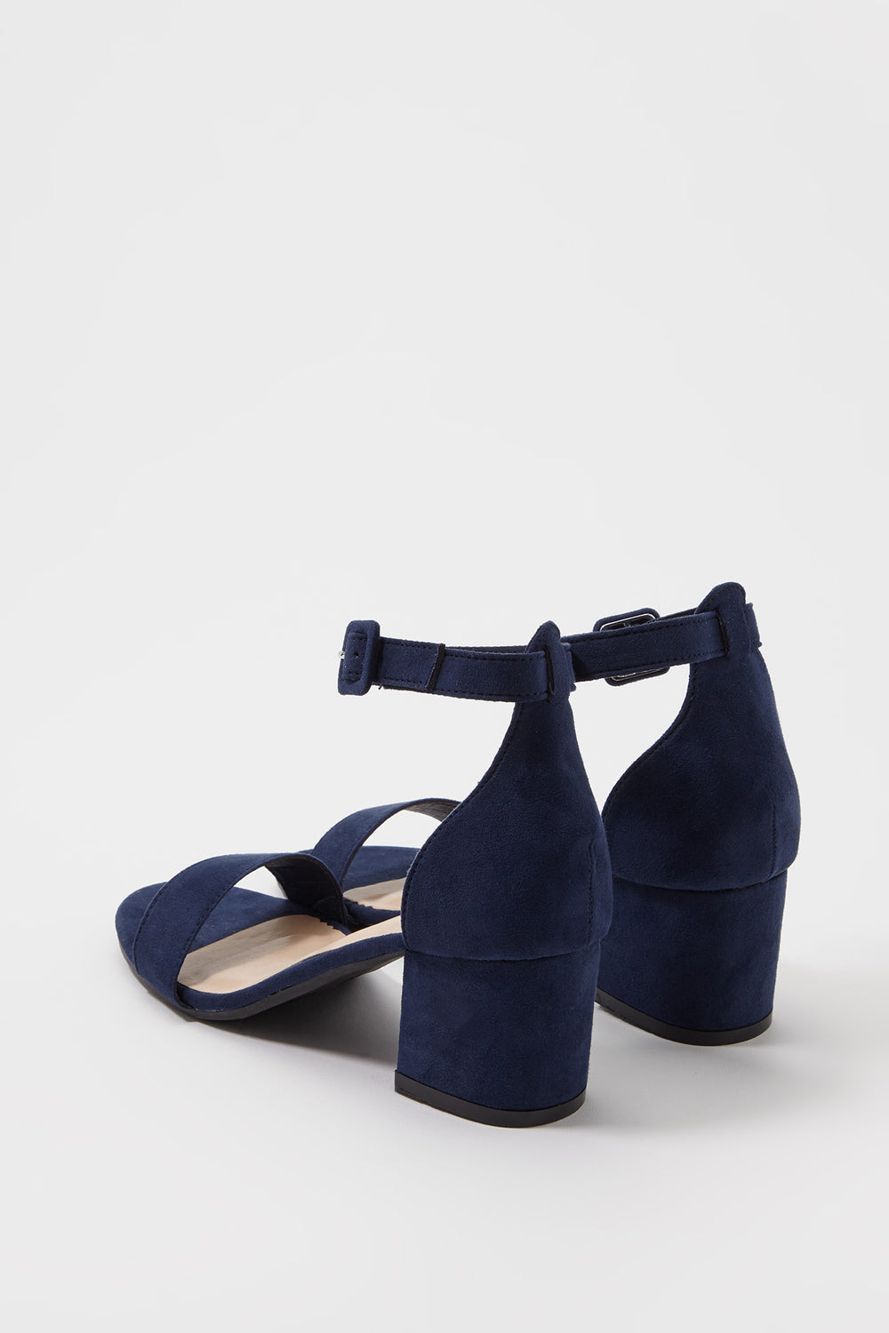 Low Block Heel Sandal Navy