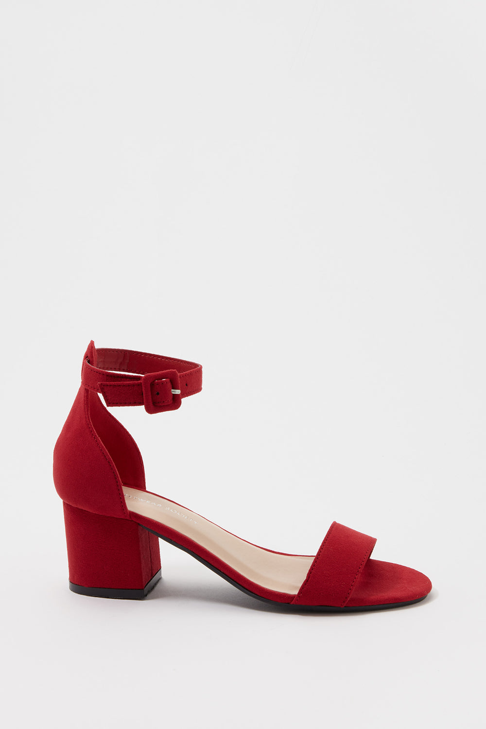 Low Block Heel Sandal Red