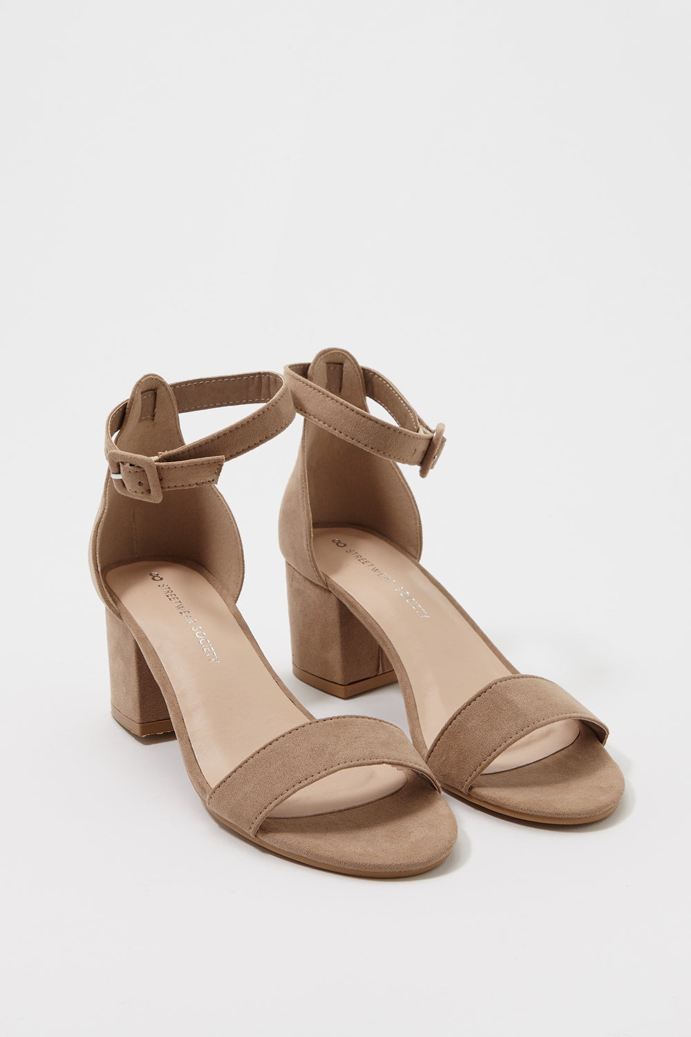 Low Block Heel Sandal Taupe
