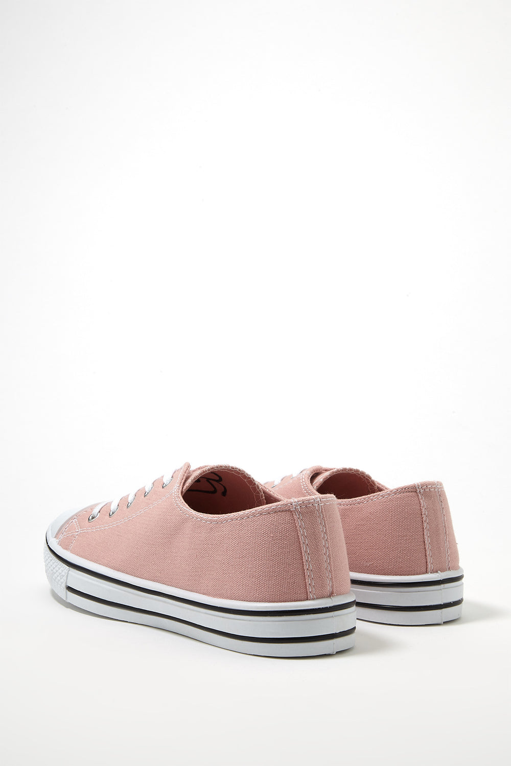 Printed Canvas Lace-Up Sneaker Light Pink