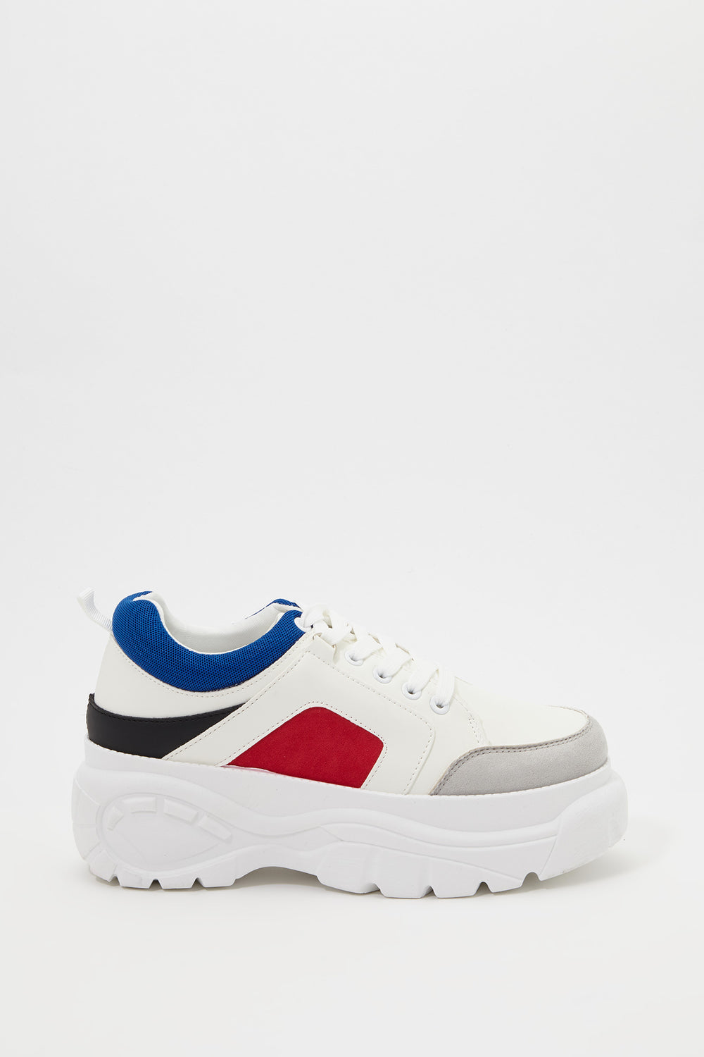 Platform Colour Block Sneaker Red