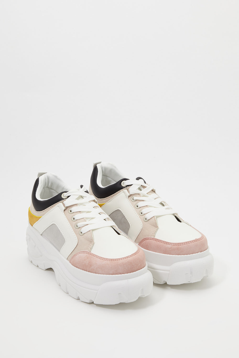 Platform Colour Block Sneaker Light Pink