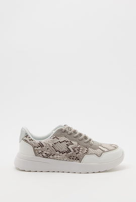 Snake Lace-Up Sneaker
