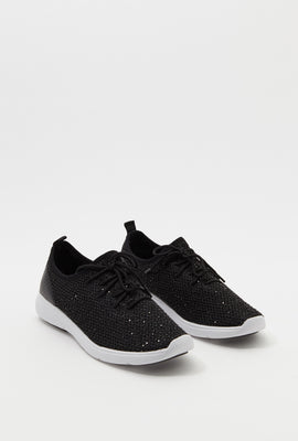 Sequin Lace-Up Sneaker