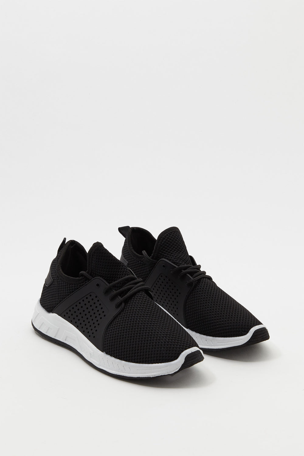 Mesh Perforated Sneaker Black