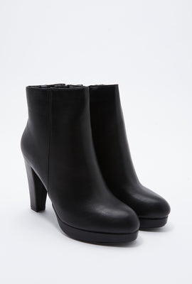Solid Platform Ankle Boot