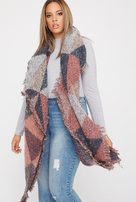 Bouclé Colour Block Scarf