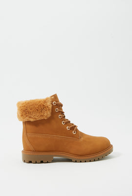 Faux-Fur Trim Hiker Boot