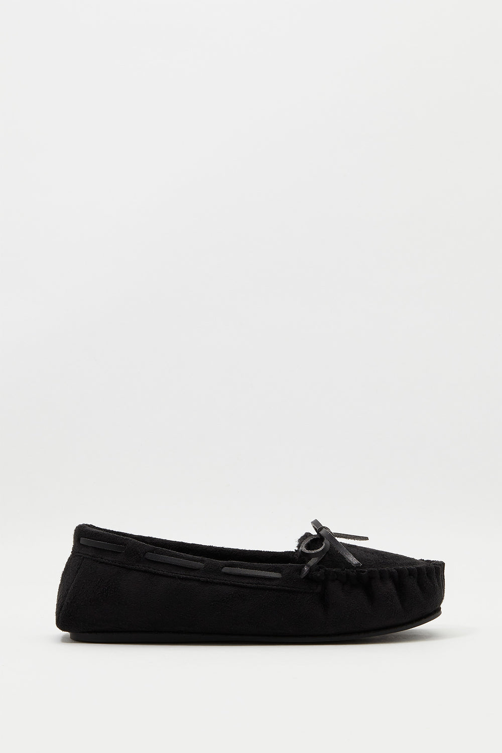 Moccasin Bow Shoe Black