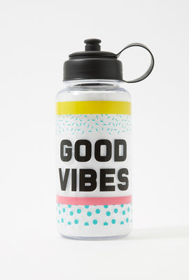 Graphic Plastic Water Bottle