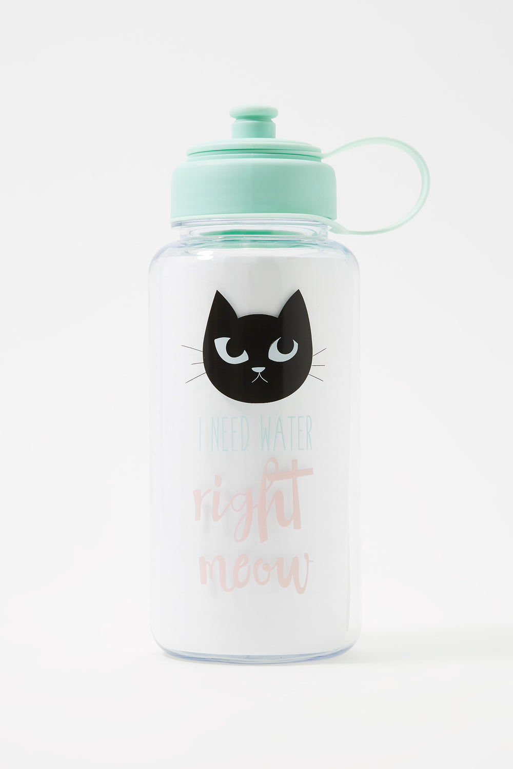 Graphic Plastic Water Bottle Sage