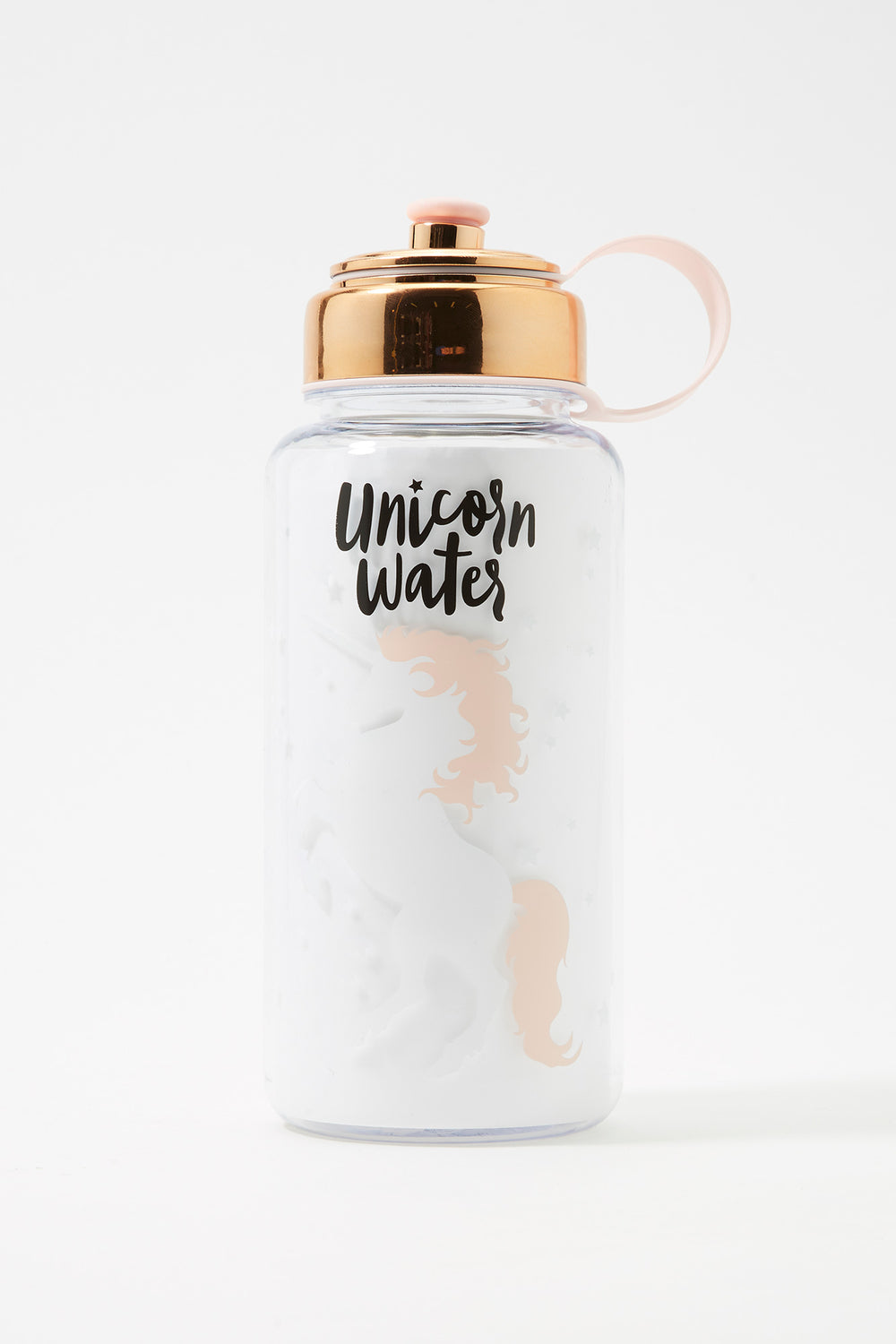 Graphic Plastic Water Bottle Pink