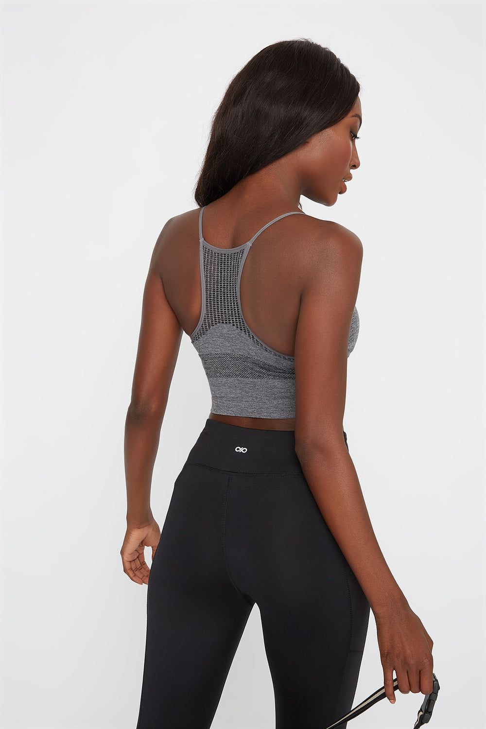 Infinite Seamless Sports Bra Heather Grey
