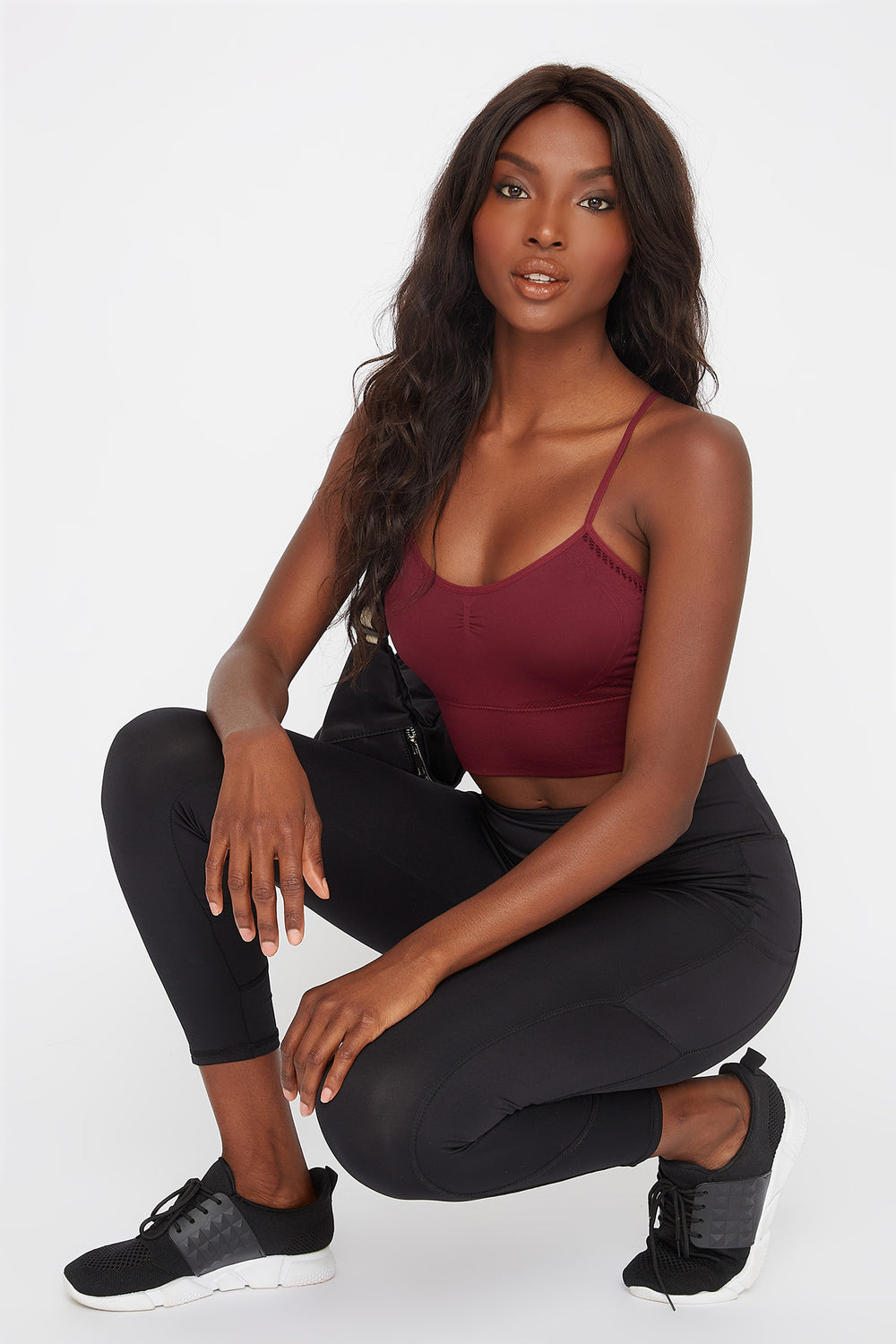 Infinite Seamless Sports Bra Dark Red