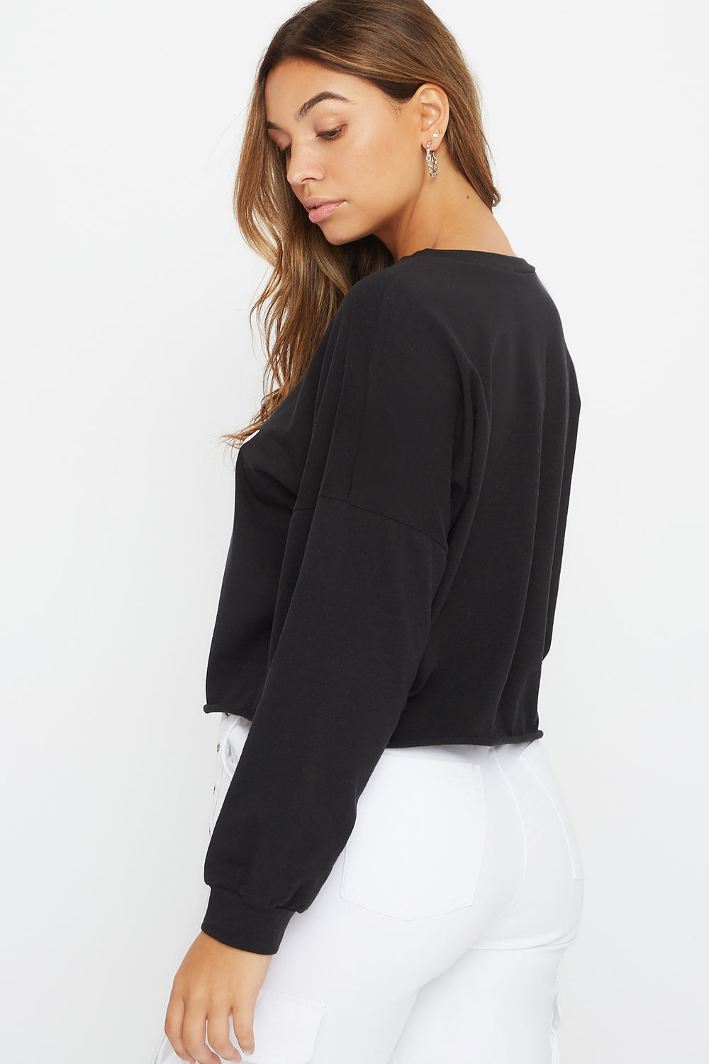 Oversized Graphic Long Sleeve Black