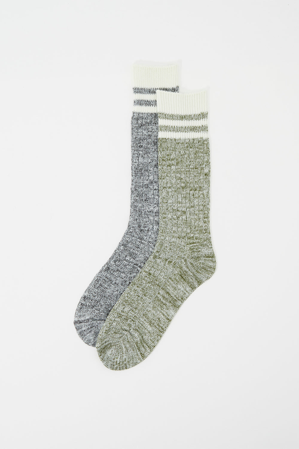 Striped Boot Socks (2 Pairs) Green
