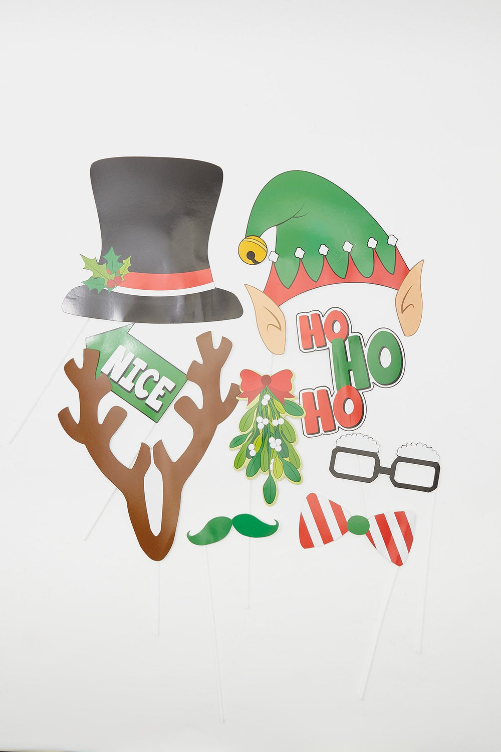 Christmas Photo Booth Accessories (20 PC) Assorted