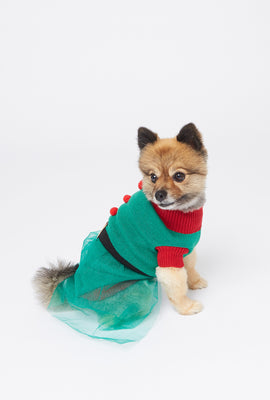 Elf Holiday Pet Dress