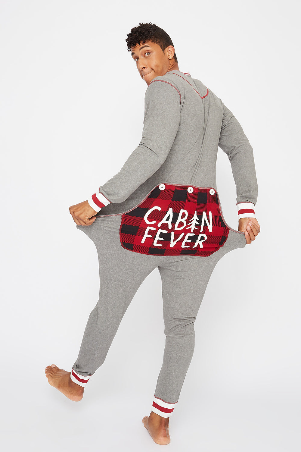 Unisex Fammy Jammies Cabin Fever Onesie Heather Grey