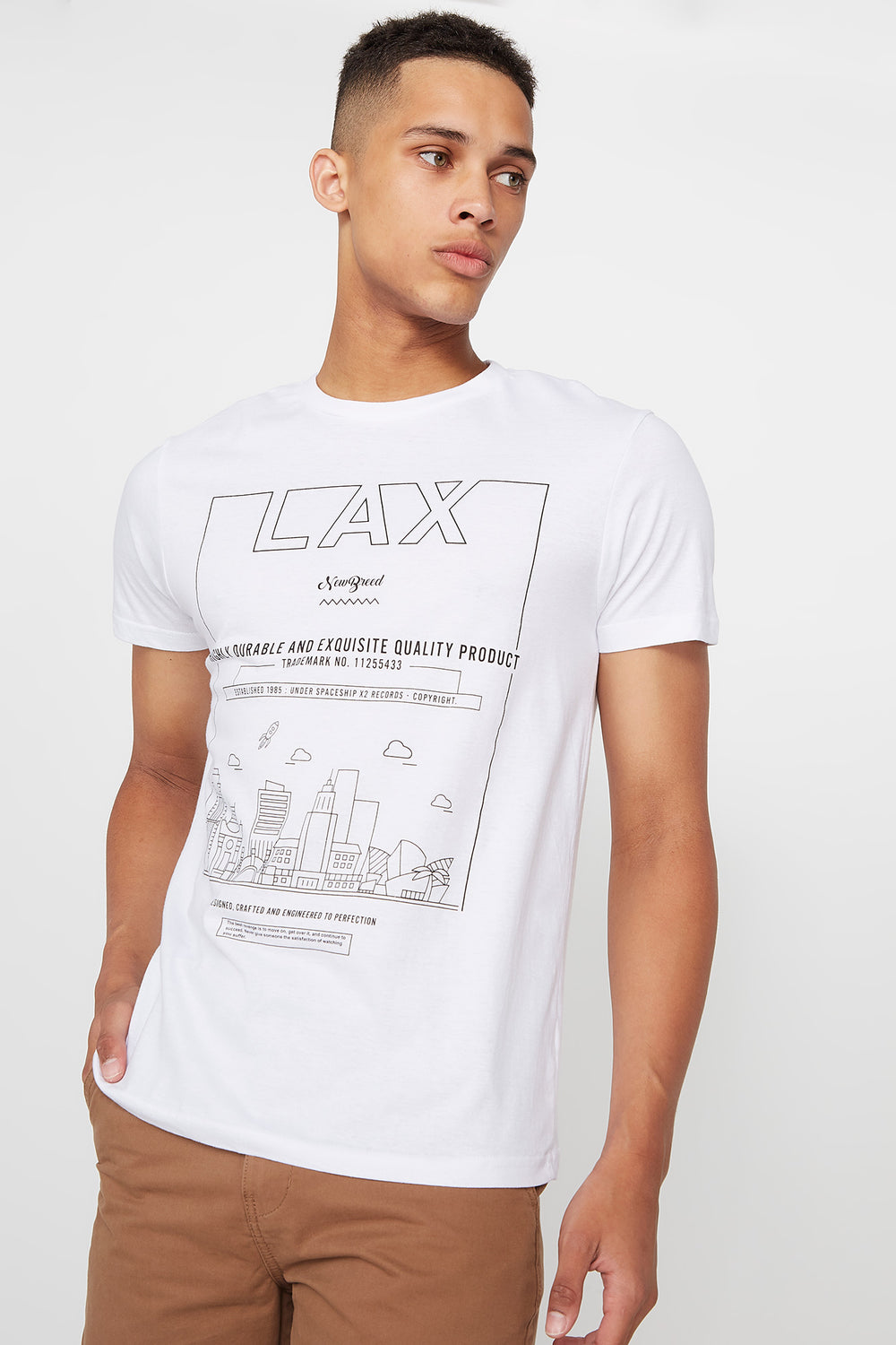 Graphic LAX Drawing T-Shirt White
