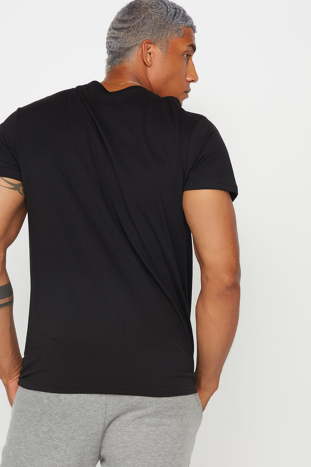 Basic Cotton Crew Neck T-Shirt Black