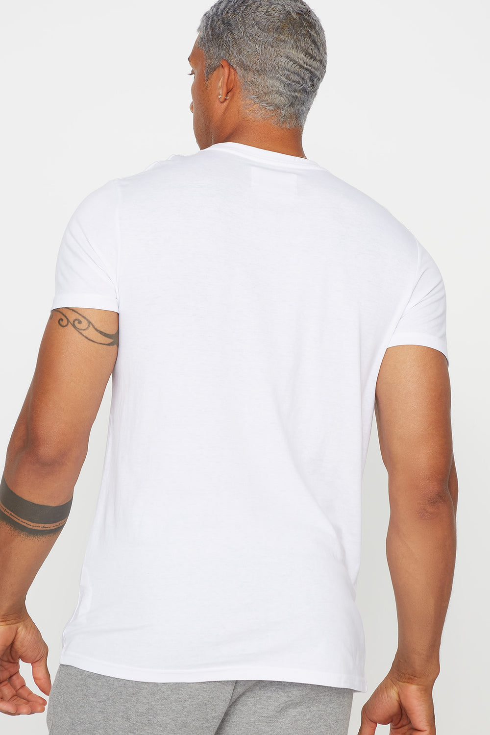 Basic Cotton Crew Neck T-Shirt White