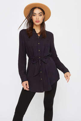 Utility Self Belted Shirt