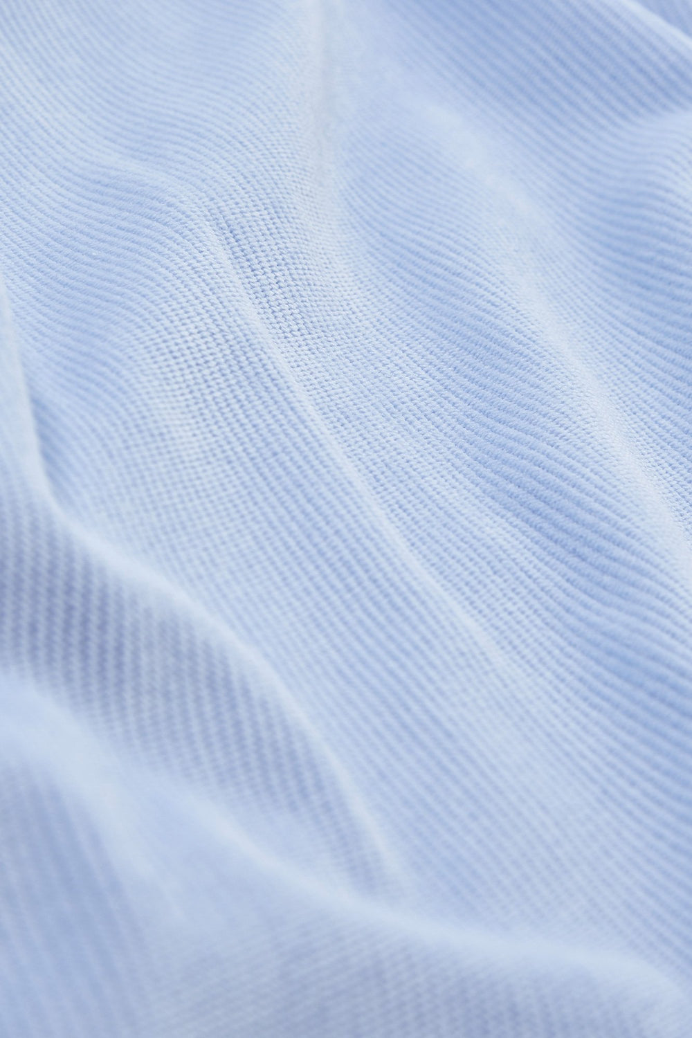 Super Soft Corduroy High-Low Shirt Light Blue