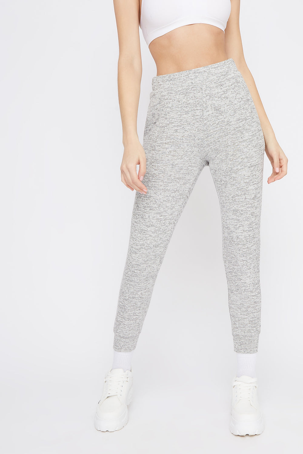 Soft Space Dye Jogger Heather Grey