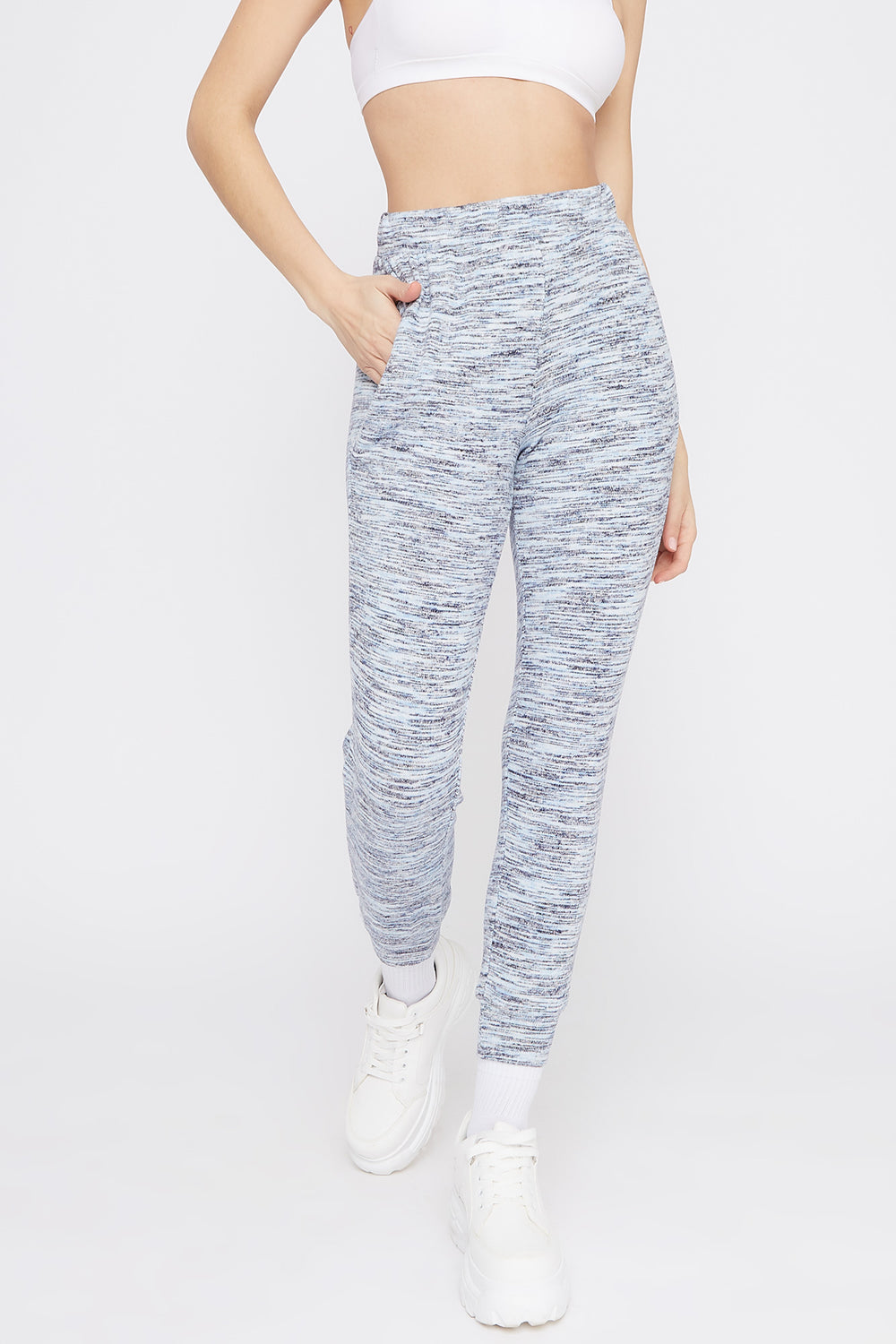 Soft Space Dye Jogger Light Blue
