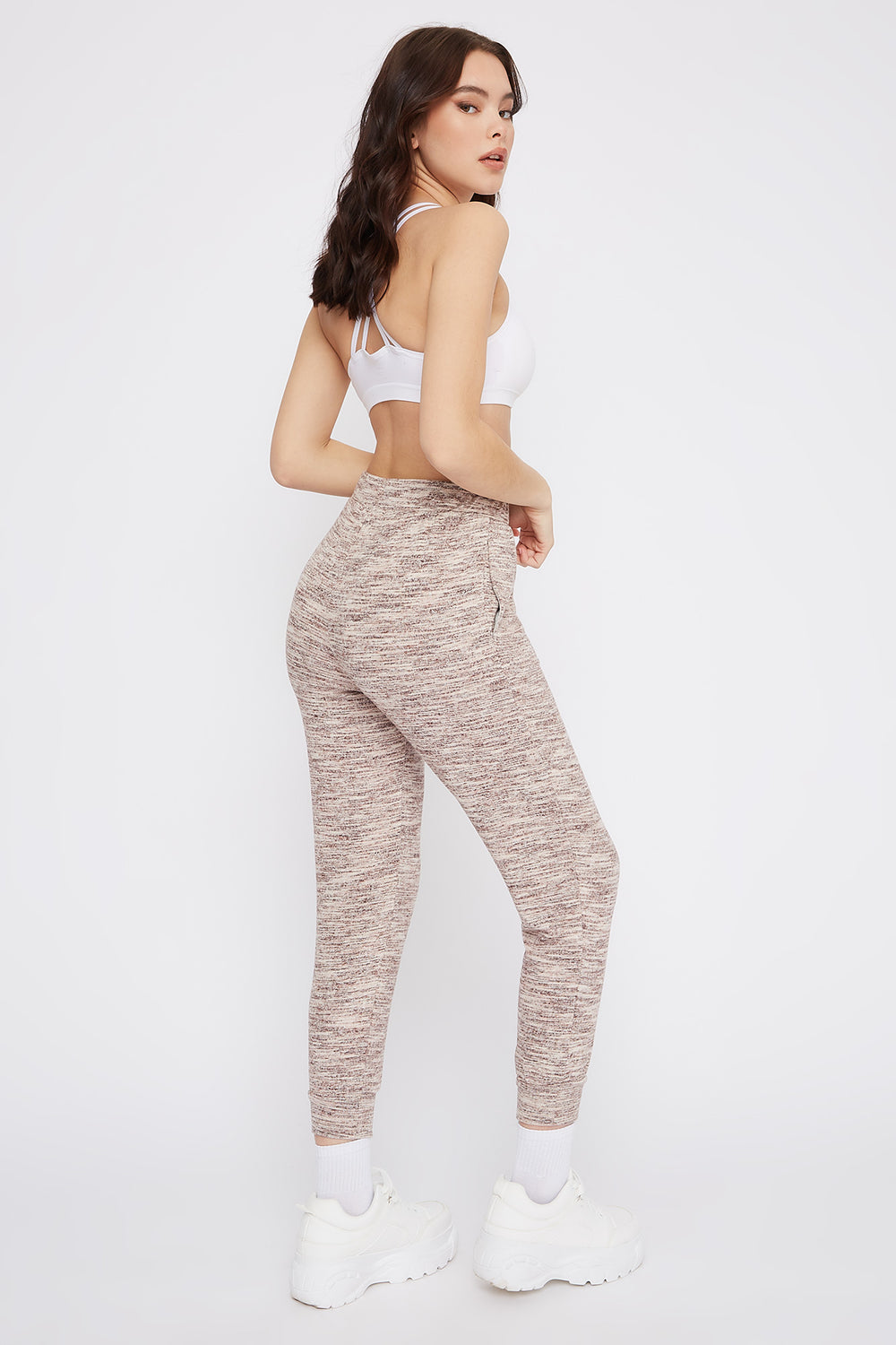 Soft Space Dye Jogger Dusty Rose