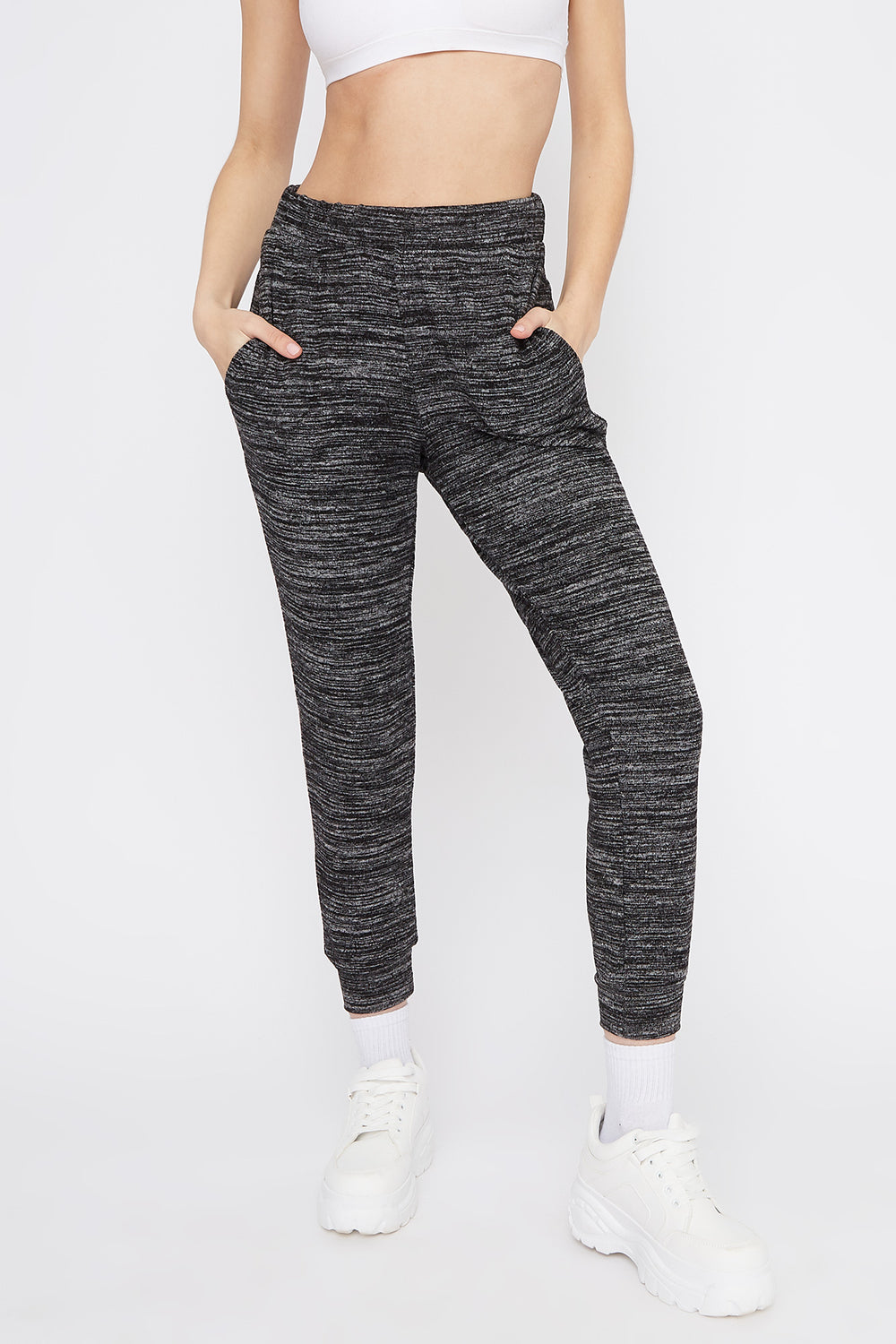 Soft Space Dye Jogger Black with White