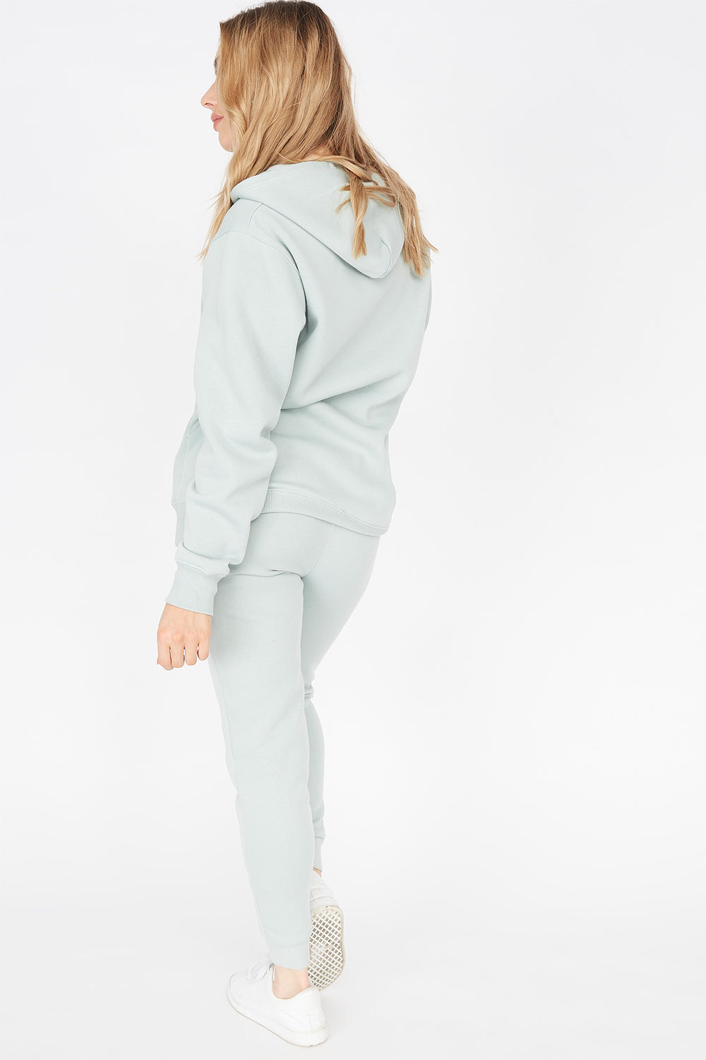 Basic Fleece Drawstring Jogger Sage