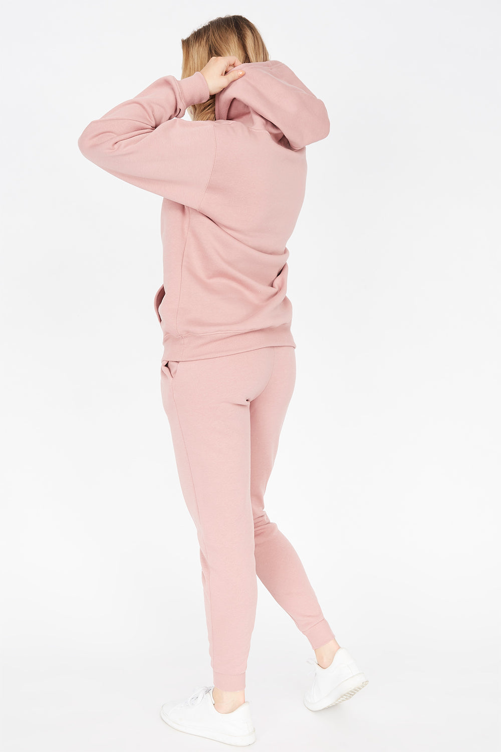 Basic Fleece Drawstring Jogger Mauve
