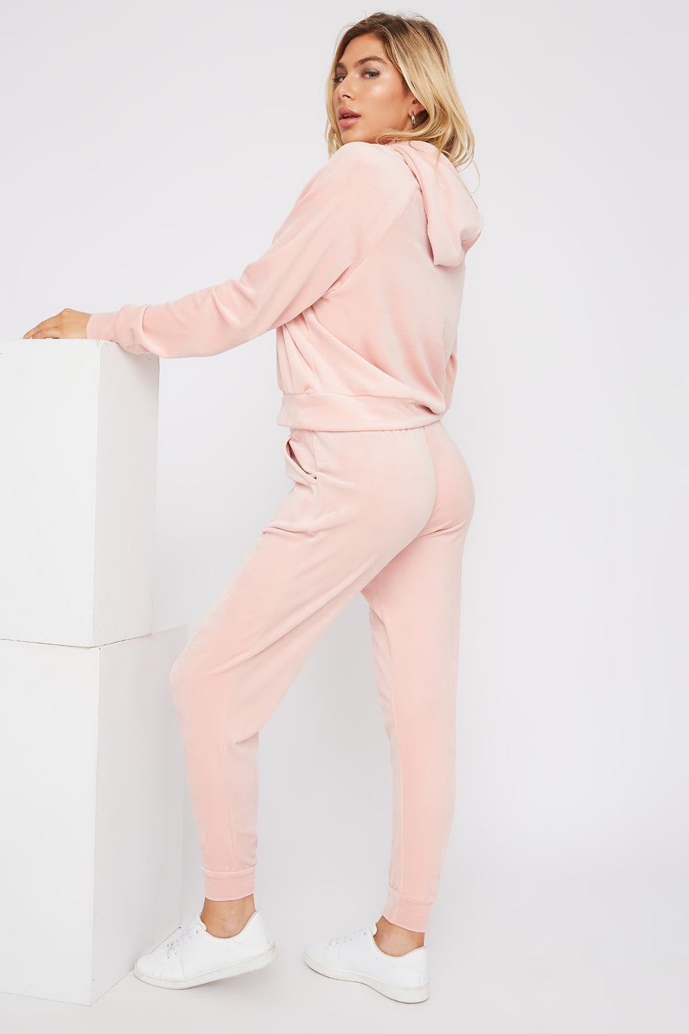 Super Soft Velvet Drawstring Jogger Dusty Rose