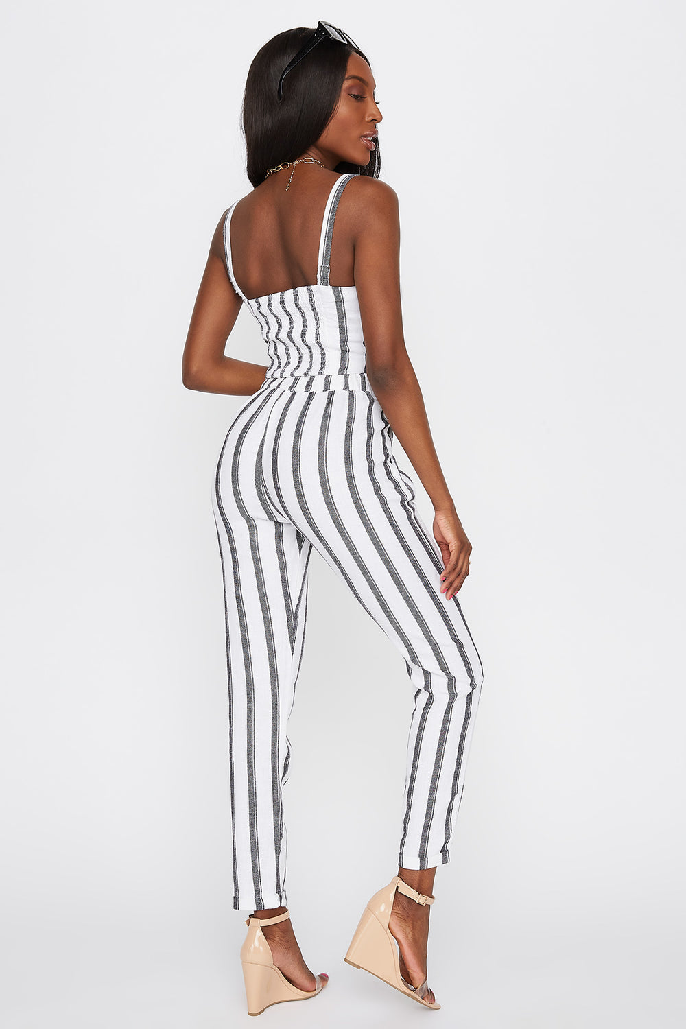 Striped Linen Skinny Pant Assorted
