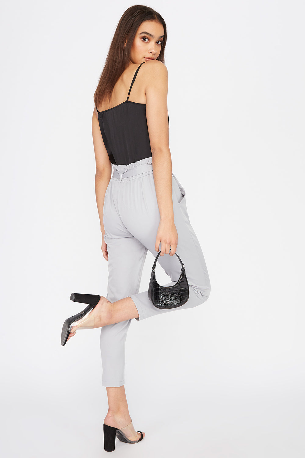 Paperbag Pant Heather Grey